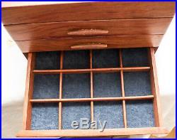 USA-Made Bubinga and Kewazingo 3-Drawer Jewelry-Heirloom Box by Michael Fisher
