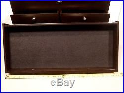 Unique Large Wooden Flip Top 6 Drawer Storage Jewelry Tool Machinist Chest/Box