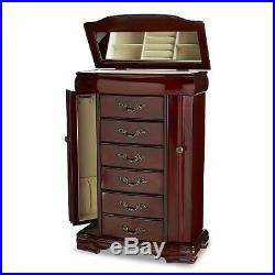 Upright Jewelry Armoire Box Chest Stand Up Cabinet Dresser Vanity Organizer