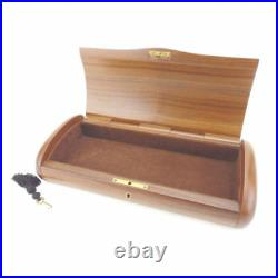 VINTAGE GUCCI all WOOD JEWELRY BOX WITH KEY! GORGEOUS RARE FIND