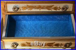 VINTAGE MUSIC BOX JEWELRY MINIATURE CHEST GODFATHER THEME PRICE IMPORT 1970s