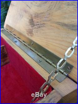 VTG Large Natural Log Rustic Jewelry Box Knotty Distressed Northwoods Lodge Case