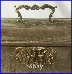 Velvet Jewelry Box, circa 1900s french