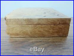 Very Large Michael Elkan Bird's Eye Maple (Burl) Jewelry Box Live Edge Wood