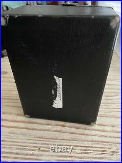 Victorian Antique English Black Leather Jewelry Box