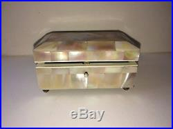 Victorian Mother Of Pearl Inlay Jewelry Box