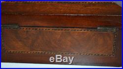 Victorian Tunbridge ware Rosewood Casket Trinket Jewelry Box PL3339