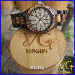 Viking Symbol Vegvisir Handmade Viking Watch, Norse Jewelry, Medieval Jewelry