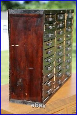 Vintage Apothecary Cabinet 30 Drawers Farmhouse Industrial Tool box Jewelry etc