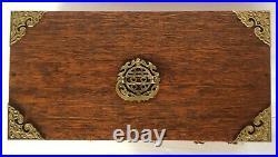 Vintage Asian Large Wood Multi Drawer Jewelry Box