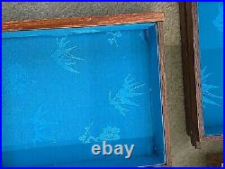 Vintage Chinese Hand Carved 5 drawer Wooden Jewelry Box/Chest. 12x10x8