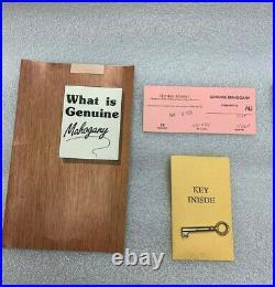 Vintage HENKEL HARRIS HHJ 494 (H-9) Jewelry Chest MAHOGANY29 Original owner