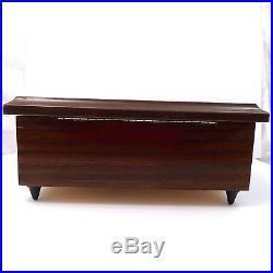 Vintage Inlaid Wood Sorrento Italy Music Jewelry Box Torna A Surriento Mandolin