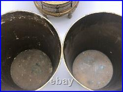 Vintage Italian Florentine Gilt Wood Golden Trash Cans with Miniature Jewelry Box