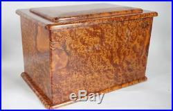 Vintage Italian Solid Burled Briarwood Jewelry Box c. 1950