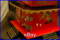 Vintage Japanese Pagoda Music Jewelry Box
