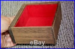 Vintage Japanese wood TANSU PAGODA JEWELRY box trinket LARGE Asian centerpiece