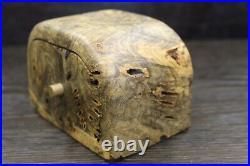 Vintage Jeff Trag Burled Wood Jewelry Box 1980's Brutalist Hippie Era