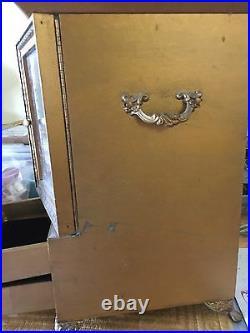 Vintage Jewelry Box ITALIAN FLORENTINE Hollywood Regency Wardrobe (Mia)