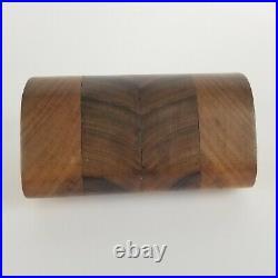 Vintage Koa Wood Box Po Shun Leong 1984 Art Object Jewelry Stash 7