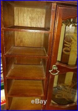 Vintage Large Wood Jewelry Box Cabinet Case Chest Organizer Dresser Top 5 Drawer