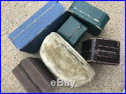 Vintage Lot 1800's 7 Jewelry Boxes NY Ring Velvet Leather ANTIQUE Fifth Ave