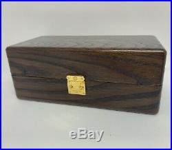 Vintage Louis Vuitton Wood Box Jewelry Watch Mini Trunk