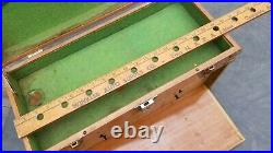 Vintage Machinists 6 Drawer Oak Wood Chest Tool Box Jewelry watch Display store