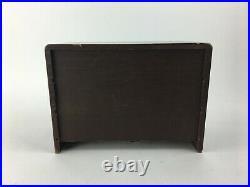Vintage Mid Century Modern Salesman Sample Wood Dresser Jewelry Box