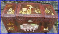 Vintage Oriental, Japanese' 3 tier Light Up Musical, 2 Ballerina Jewellery Box