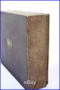 Vintage R & Y Augousti Paris Shagreen Stingray Veneer Wood Carved Jewelry Box