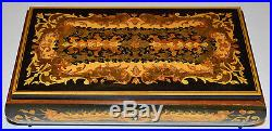 Vintage REUGE Swiss Music Jewelry Box Love Story Marquetry Inlaid Wood