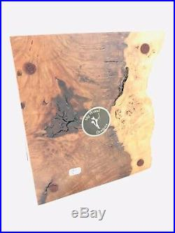 Vintage Redwood Burl Box Live Edge Jewelry Trinket Artisan Handmade Sly Wood 6