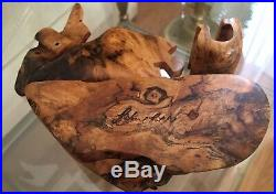 Vintage Richard Rothbard Burl Wood Jewelry Box Puzzle American made Free Ship