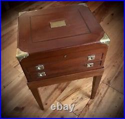Vintage Stief Jewelry, Nashville Silver Flatware Wooden Storage Chest-Box-Beauty