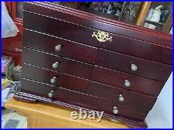 Vintage Thomas Pacconi Deluxe Jewelry Box Chest Museum ClassIcs NIB Original Pkg