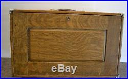 Vintage Union Wood Machinist Tool Case Box / Jewelry Box 8 Drawer