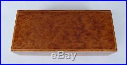 Vintage Veneered Thuya Burr & Tulipwood Lipped Cufflink / Jewellery Box