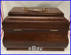 Vintage Williamsburg Tea Caddy/ Jewelry Box Mahogany