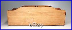 Vintage Wood Dresser Vanity Trinket Jewelry Box Organizer Men's 17 Wide