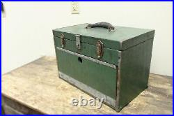 Vintage Wood Machinist Tool Chest Box Gerstner Style Art Supplies, Jewelry