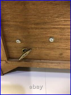 Vintage Wood Wooden Jewelry Storage Chest Made In Japan Drawers Antique Japanese