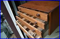 Vintage tool box wood parts drawer industrial jewelry primitive artisan retro