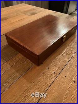 Vintage wood Smith And Wesson box, Revolver gun case, display box Jewelry box