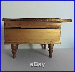 Vtg Grand Piano Italian Florentine Guild Wood Music Musical Jewelry Box RARE