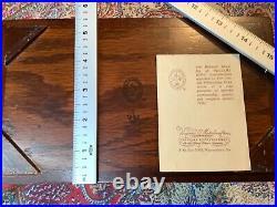 Vtg. Virginia Metalcrafters Williamsburg Wooden Accessories Jewelry Box