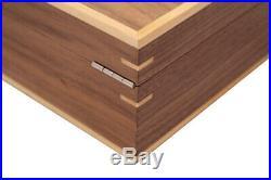 Walnut Wood 10 Wrist Watch Jewellery Display Lockable Storage Wooden Case Box