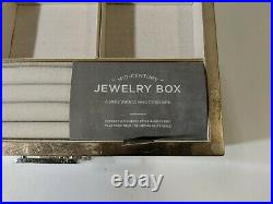 West Elm Mid-Century Box Champagne Lacquer Finish Grand 14.5w x 10.75d x 7.6h