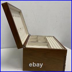 West Elm Mid-Century Loft Box Grand Wood + Brass $200 Marks/ Scratch/ READ