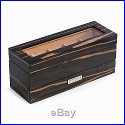 Westminster Five Watch Lacquered Ebony Wood Finished Watch Box Jewelry Box